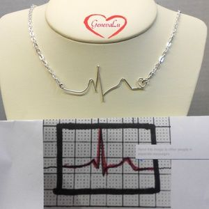 Your EKG Necklace Handmade Original
